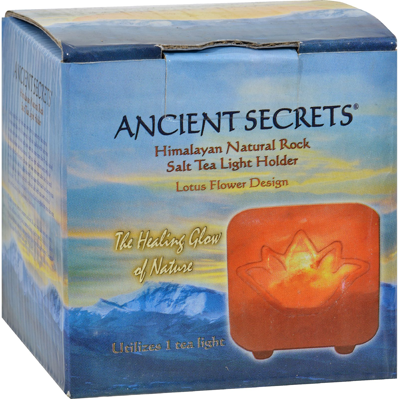Ancient Secrets Himalayan Salt Tea Light Lotus - Pack