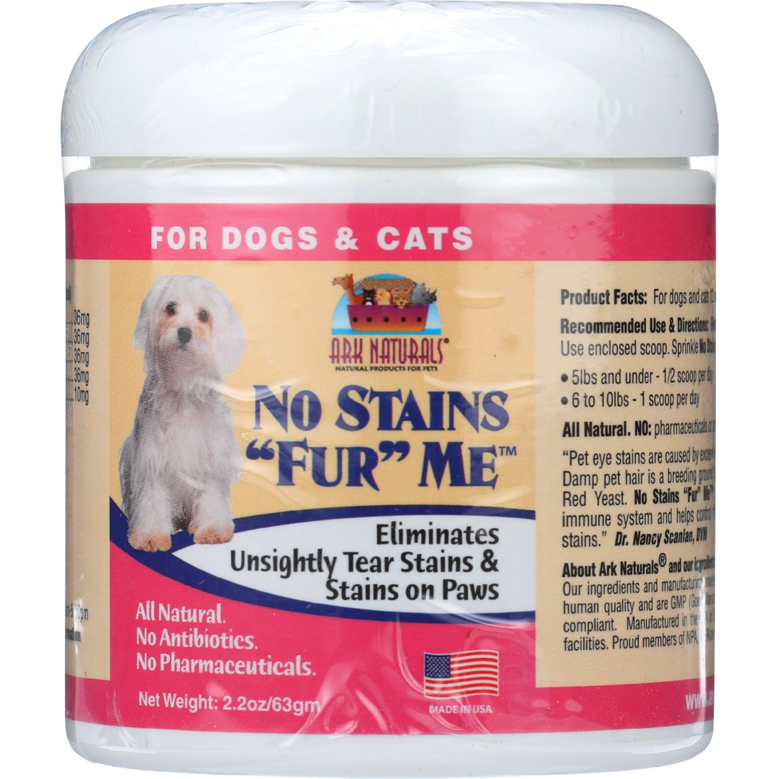Ark Naturals No Stains Fur Me - 2.2 oz - 1 each