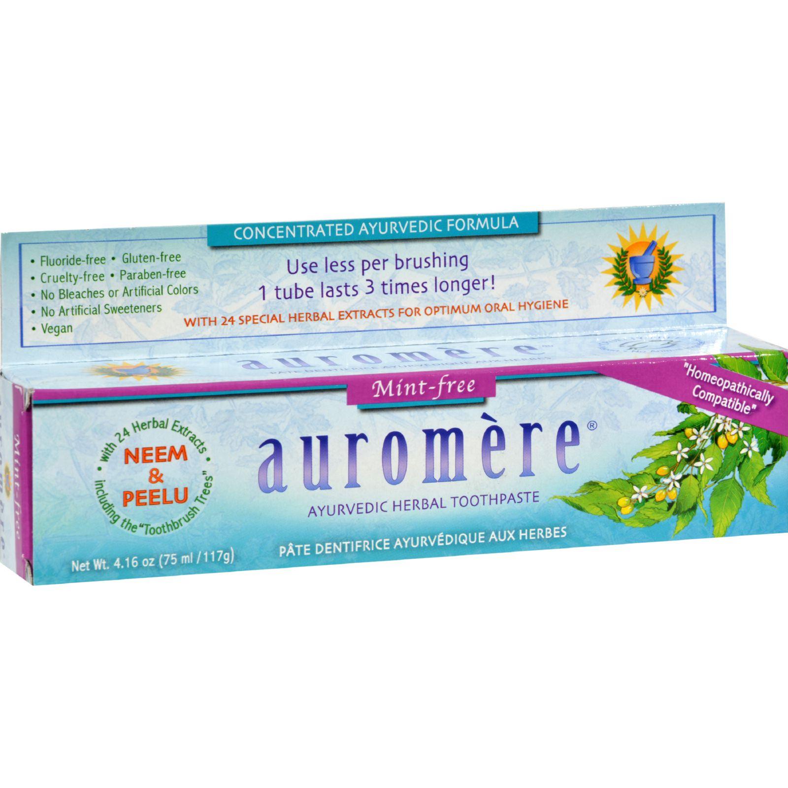 Auromere Toothpaste - Ayurvedic Herbal - Hmpthc Mnt Fr - 4.16 oz - Case of 12