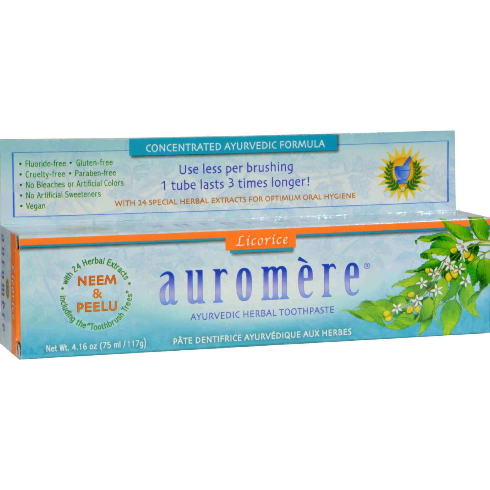 Auromere Herbal Toothpaste Original Licorice - 4.16 oz - Case of 12