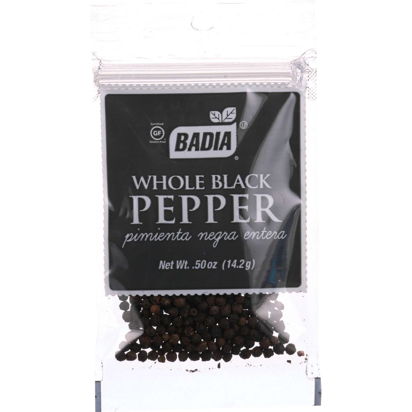 Badia Spices Pepper - Black - Whole - .5 oz - case of 12