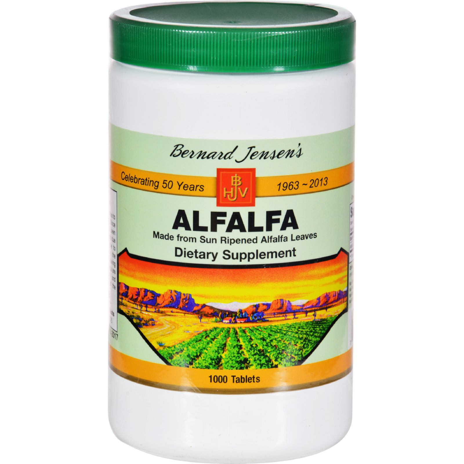 Bernard Jensen Alfalfa Leaf Tablets - 550 mg - 1000 Tablets