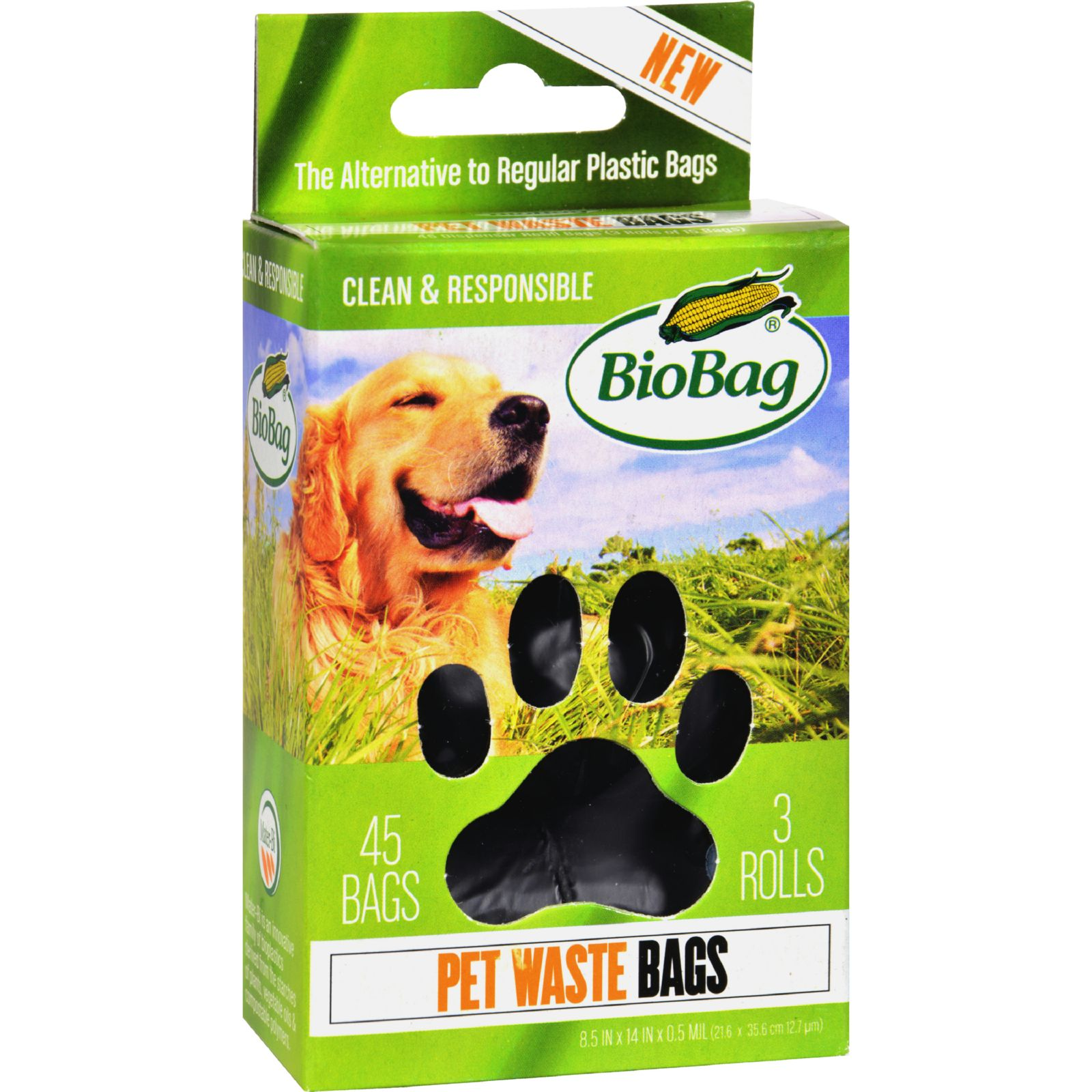 BioBag Dog Waste Bags on a Roll - 45 Count