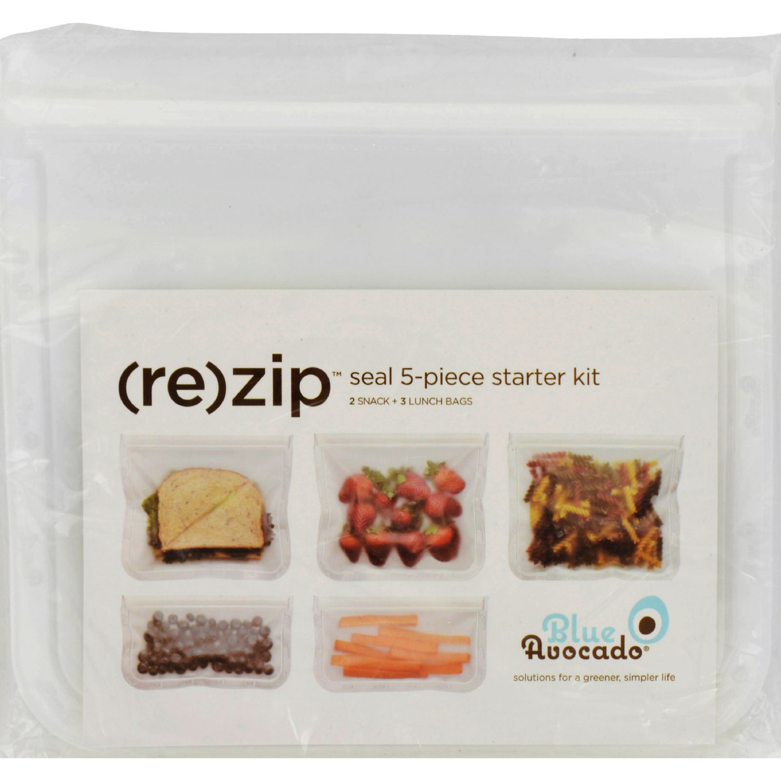 Blue Avocado Bag - Re-Zip - Seal Starter Kit - Clear - 5 Pieces