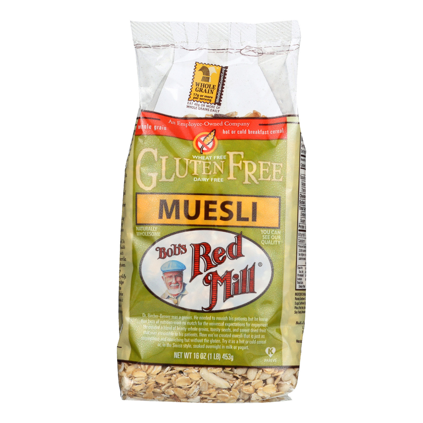 Bob's Red Mill Gluten Free Muesli Cereal - 16 oz - Case of 4