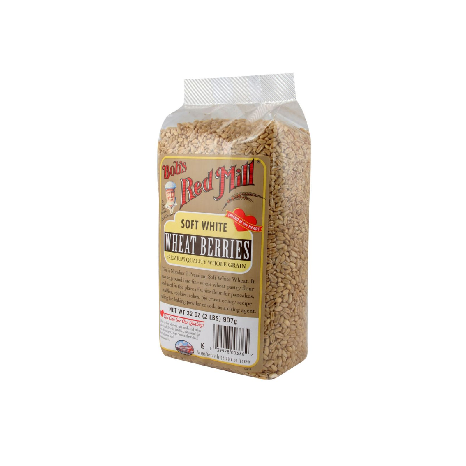 Bob's Red Mill Soft White Wheat Berries - 32 oz - Case of 4