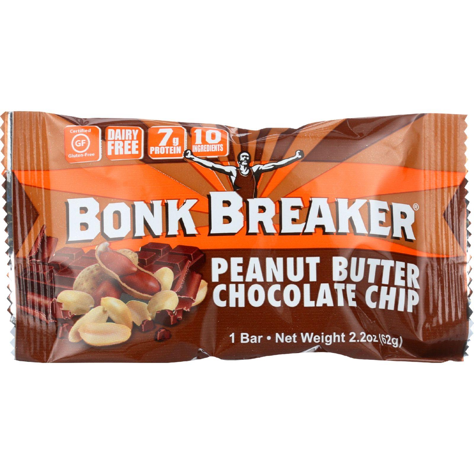 Bonk Breaker Energy Bar - Peanut Butter Chocolate Chip - 2.2 oz - case of 12