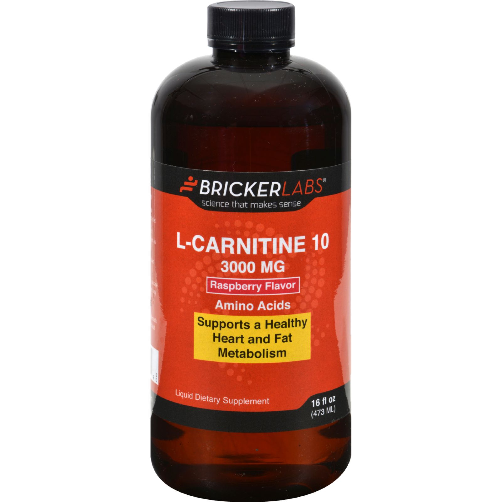 Bricker Labs Carnipure L-Carnitine Raspberry - 3000 mg - 16 fl oz