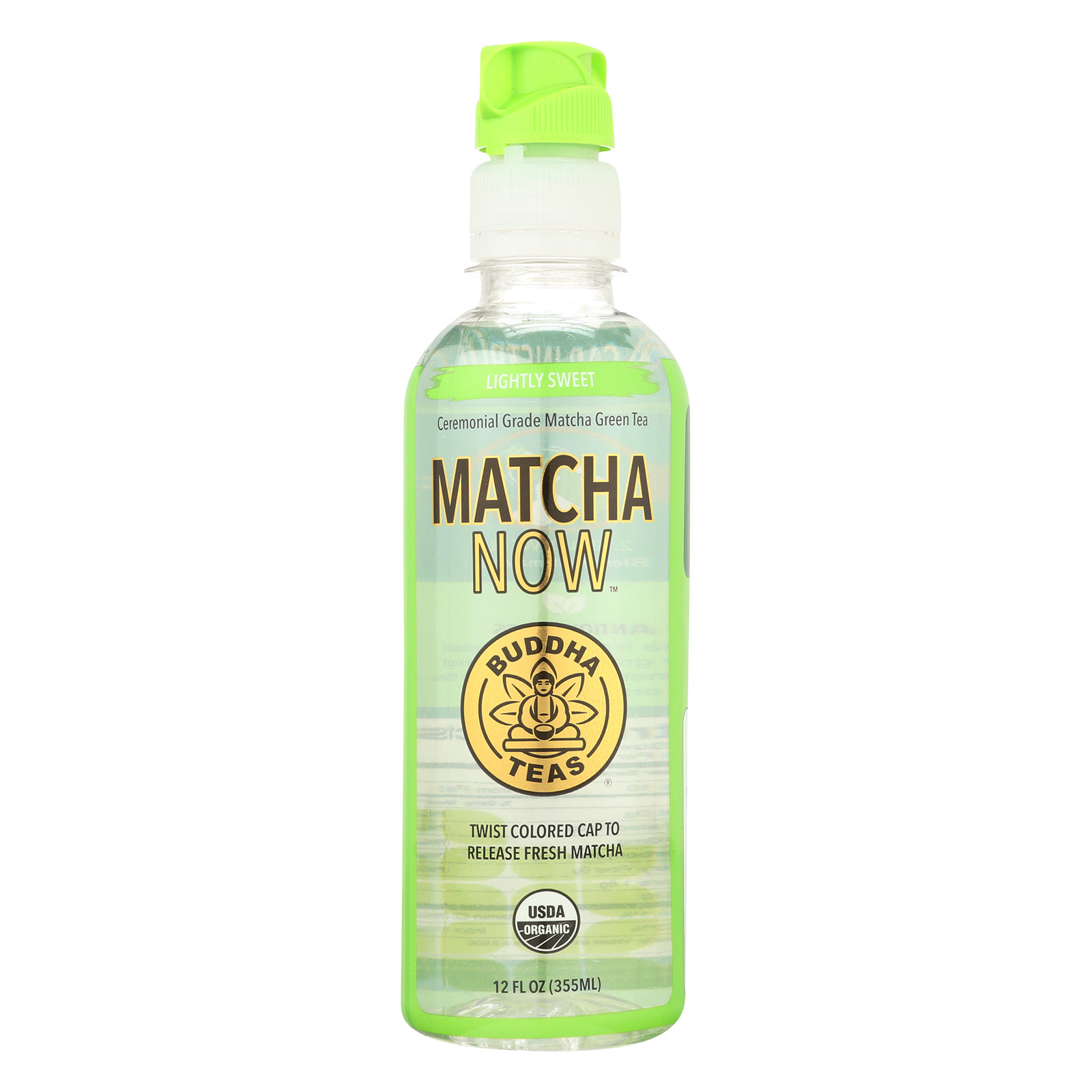 Buddha Teas Matcha NOW Green Tea - Lightly Sweet - Case of 12 - 12 oz.
