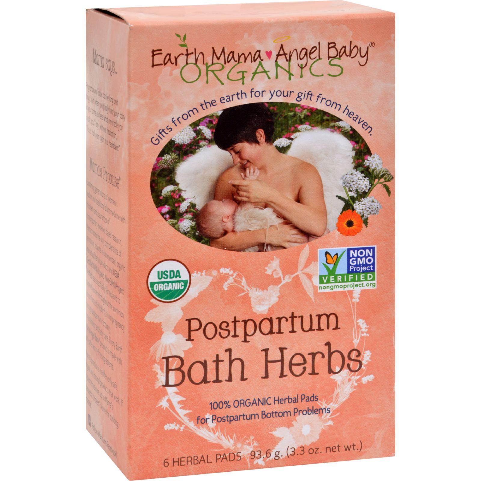 Earth Mama Angel Baby Postpartum Bath Herbs - 6 Pads