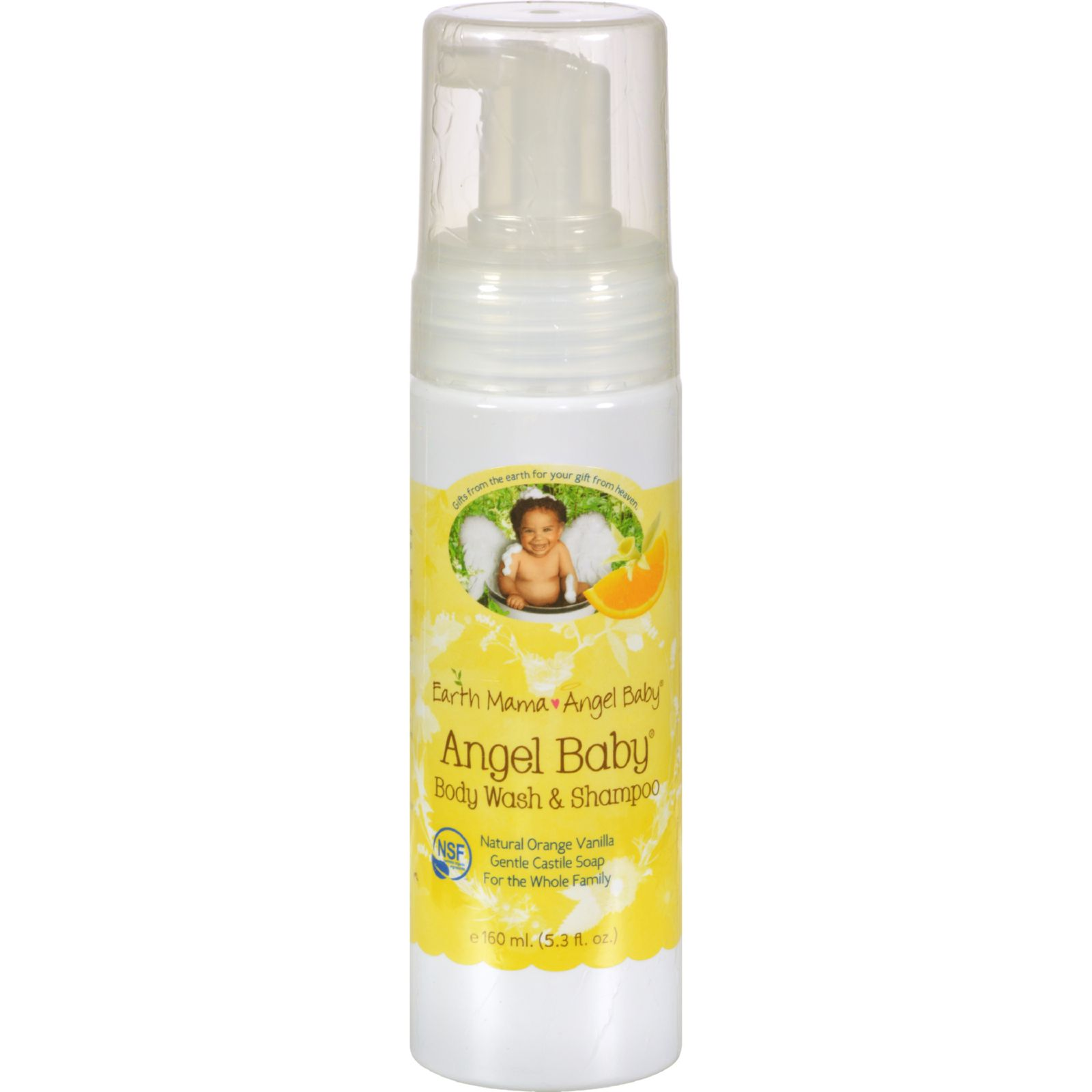 Earth Mama Angel Baby Shampoo and Body Wash - 5.3 fl oz