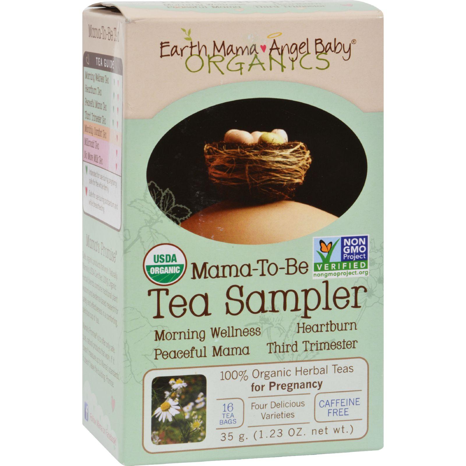 Earth Mama Angel Baby Mama-To-Be Tea Sampler - 16 Tea Bags
