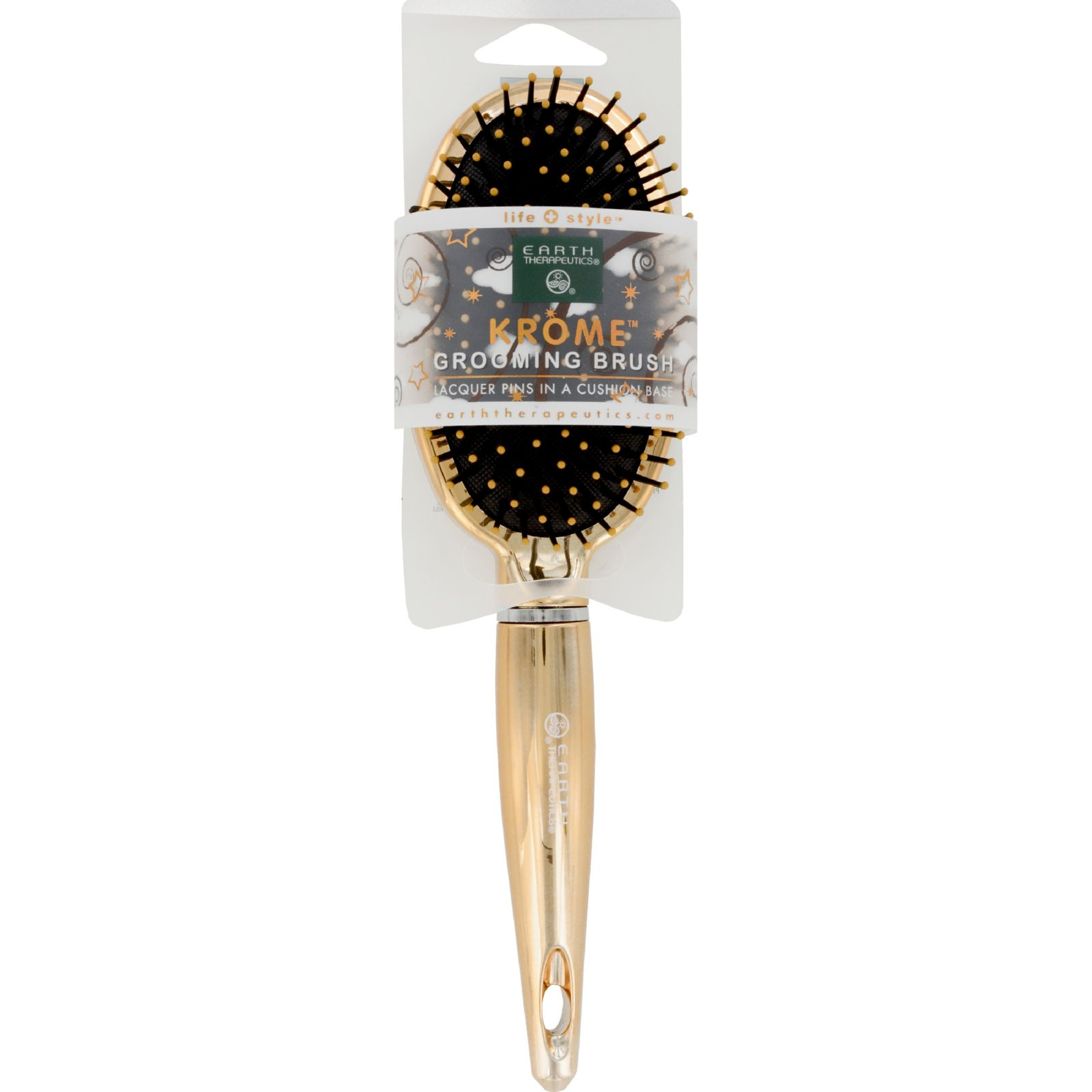 Earth Therapeutics Hair Brush - Cushion - Krome - Metallic Gold - 1 Count
