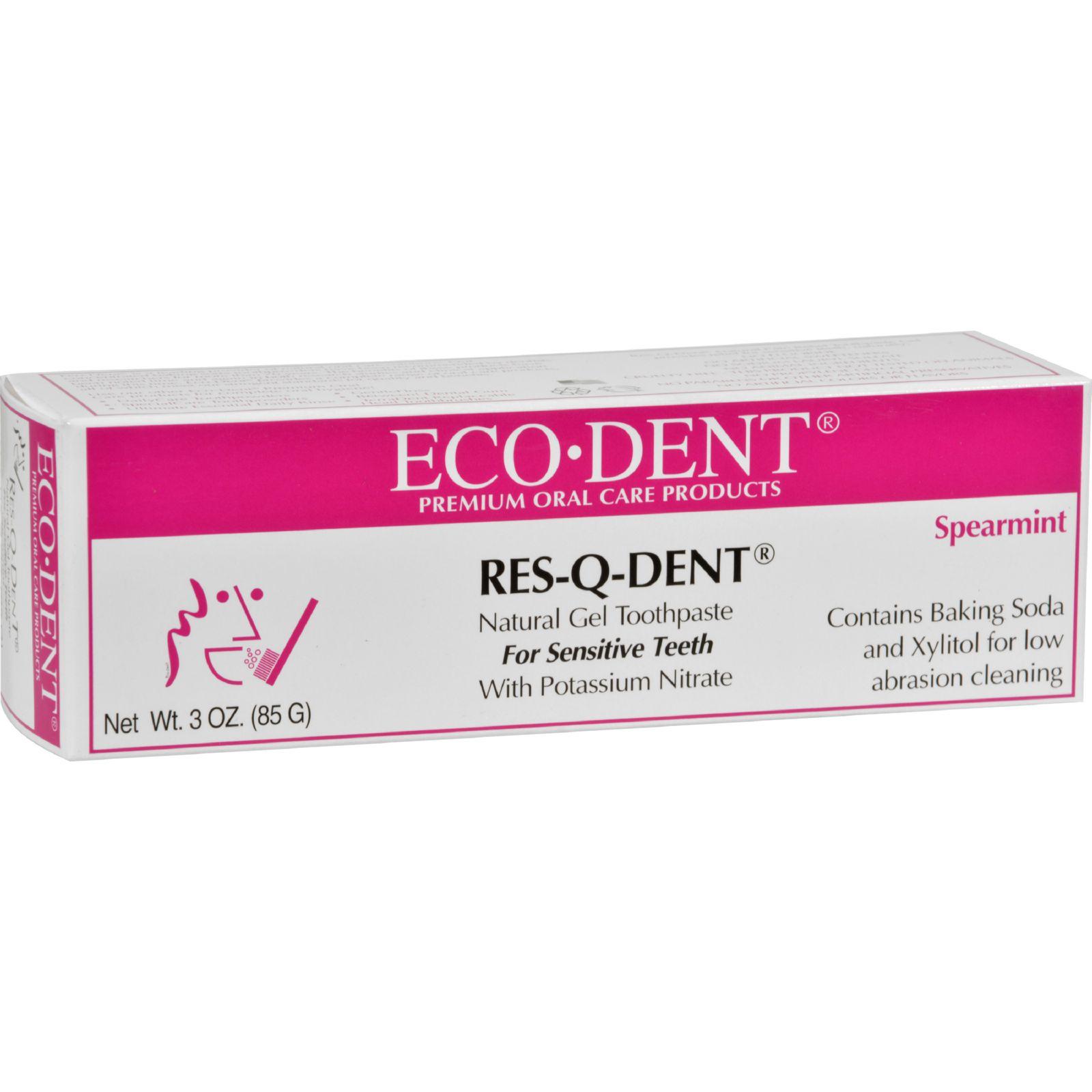 Eco-Dent Res-Q-Dent Toothpaste - Spearmint - 3 oz