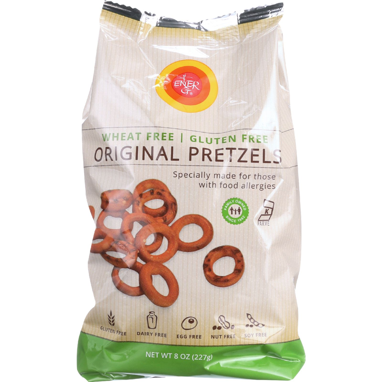 Ener-G Foods Pretzels - Original - Potato and Rice - 8 oz - case of 12