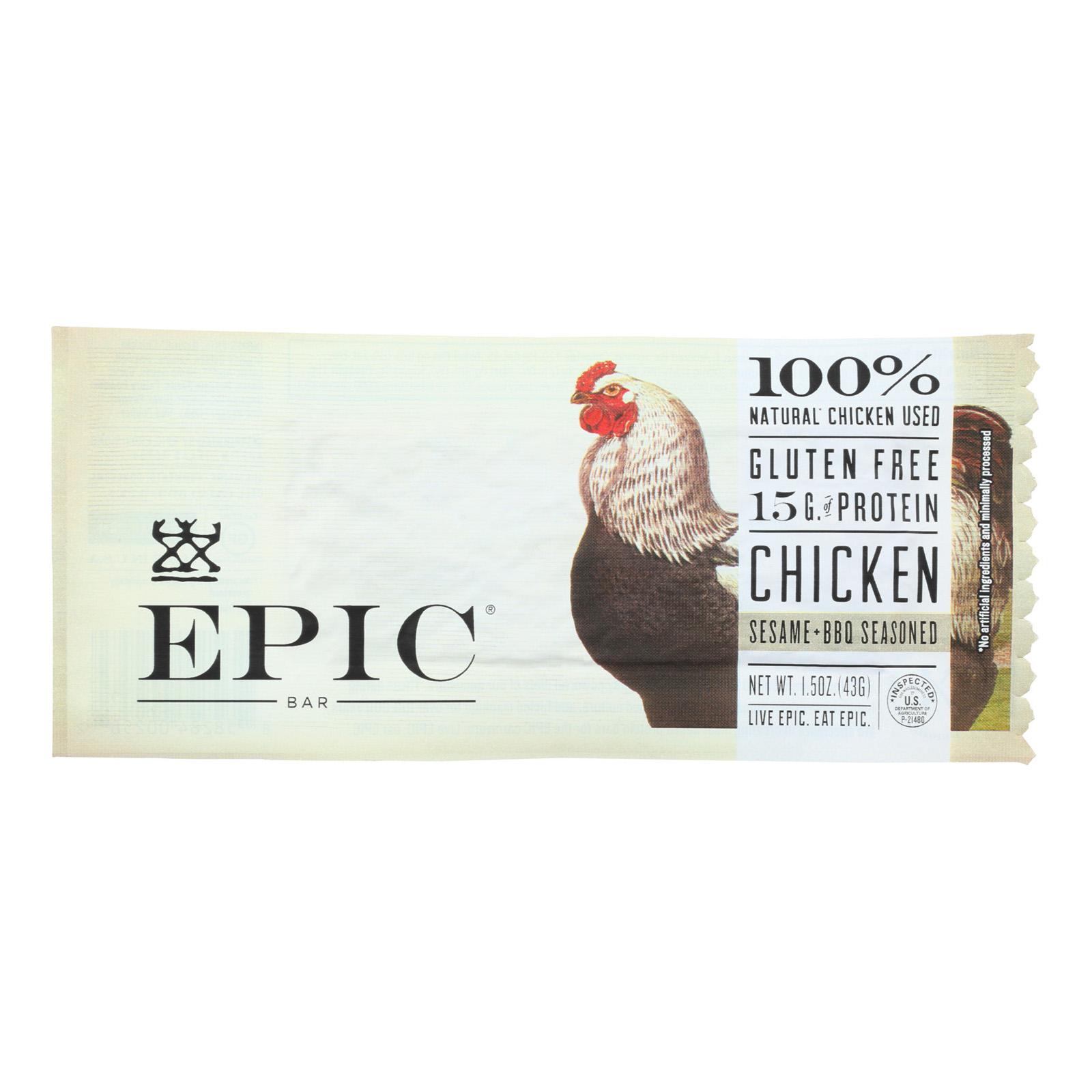 Epic Bar - Chicken Sesame Bbq - 1.5 Oz Bars - Case Of 12