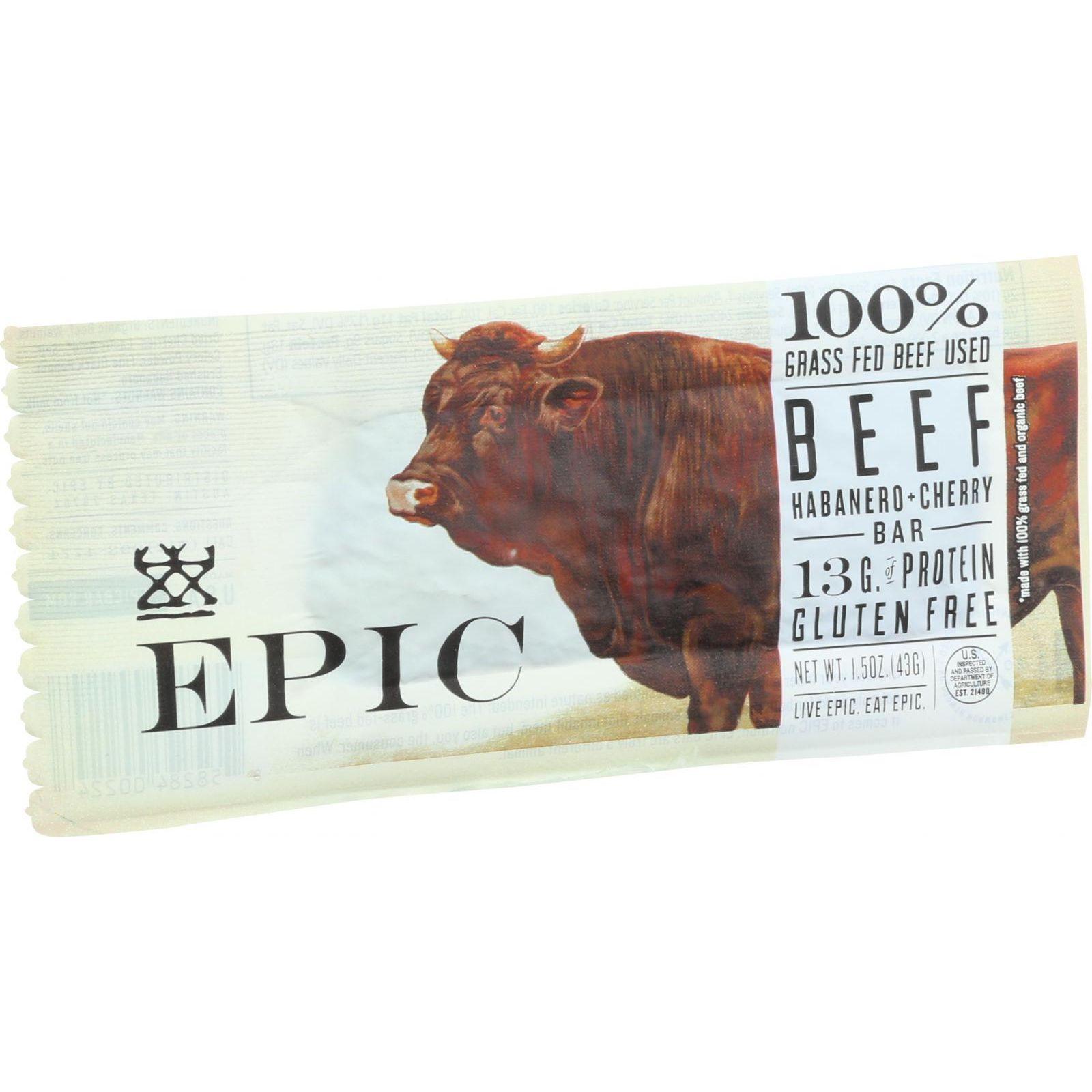 Epic Bar - Beef Habanero Cherry - 1.5 Oz Bars - Case Of 12