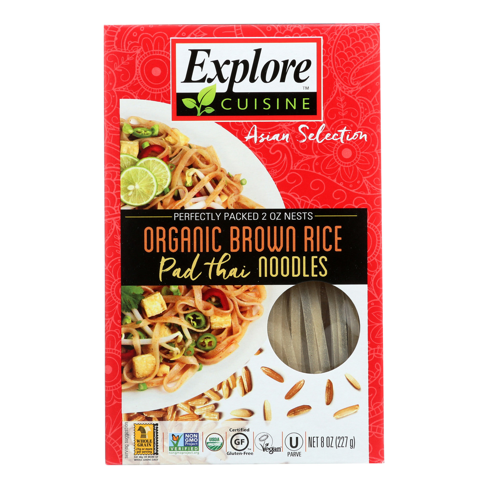 Explore Cuisine Organic Brown Rice - Pad Thai Noodles - Case Of 6 - 8 Oz.