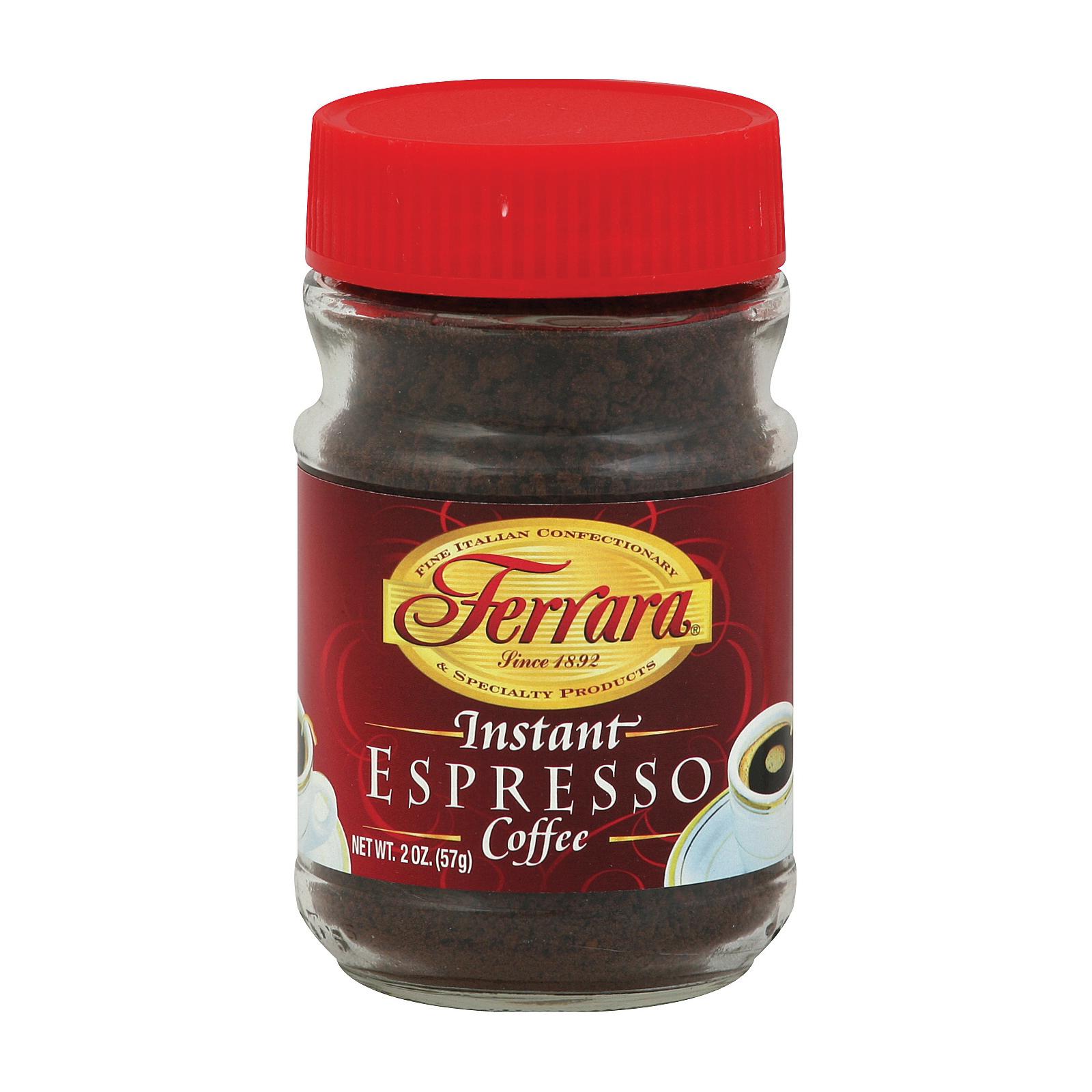 Ferrara Instant Espresso Coffee - Case of 24 - 2 oz.