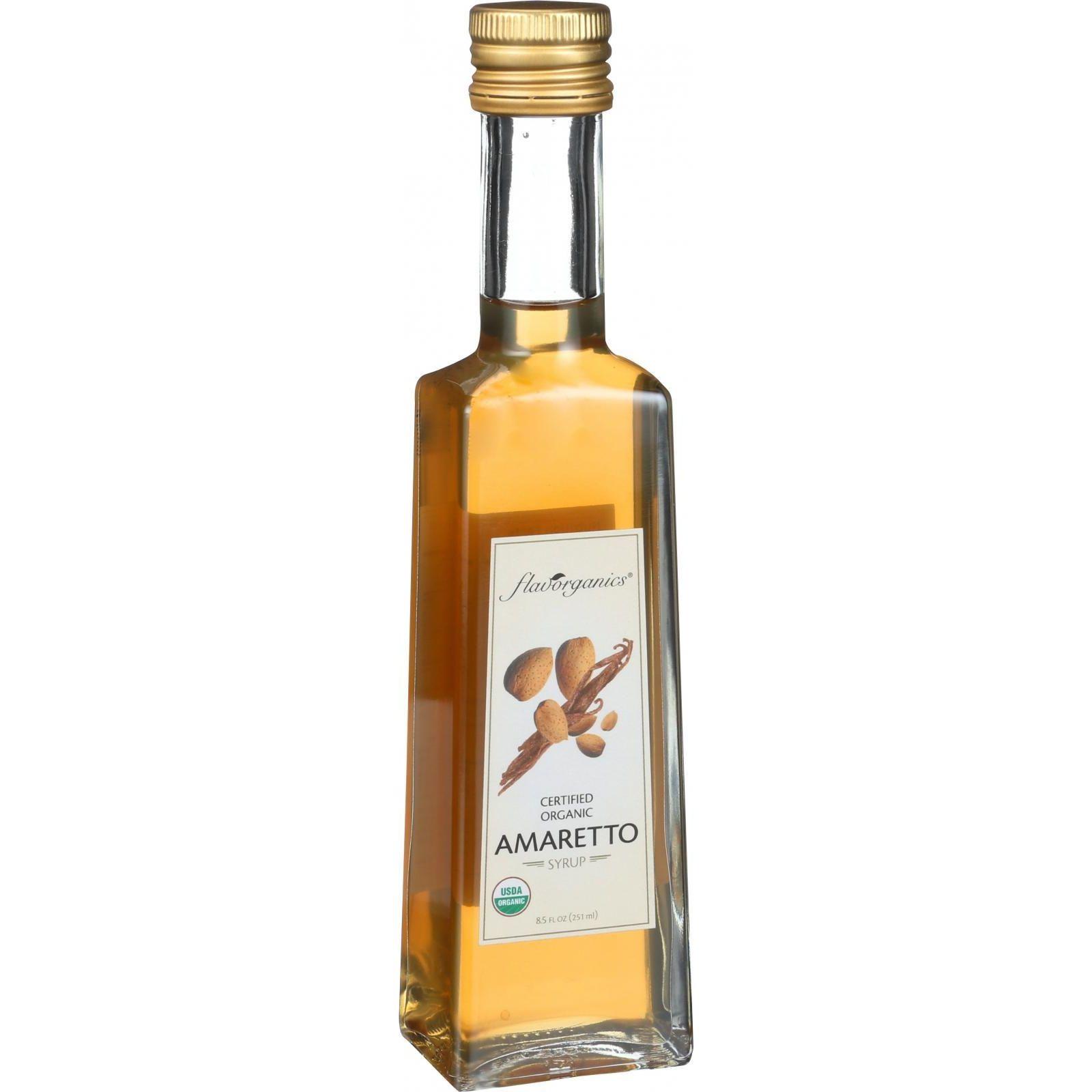 Flavorganics Organic Syrup - Amaretto - 8.5 oz