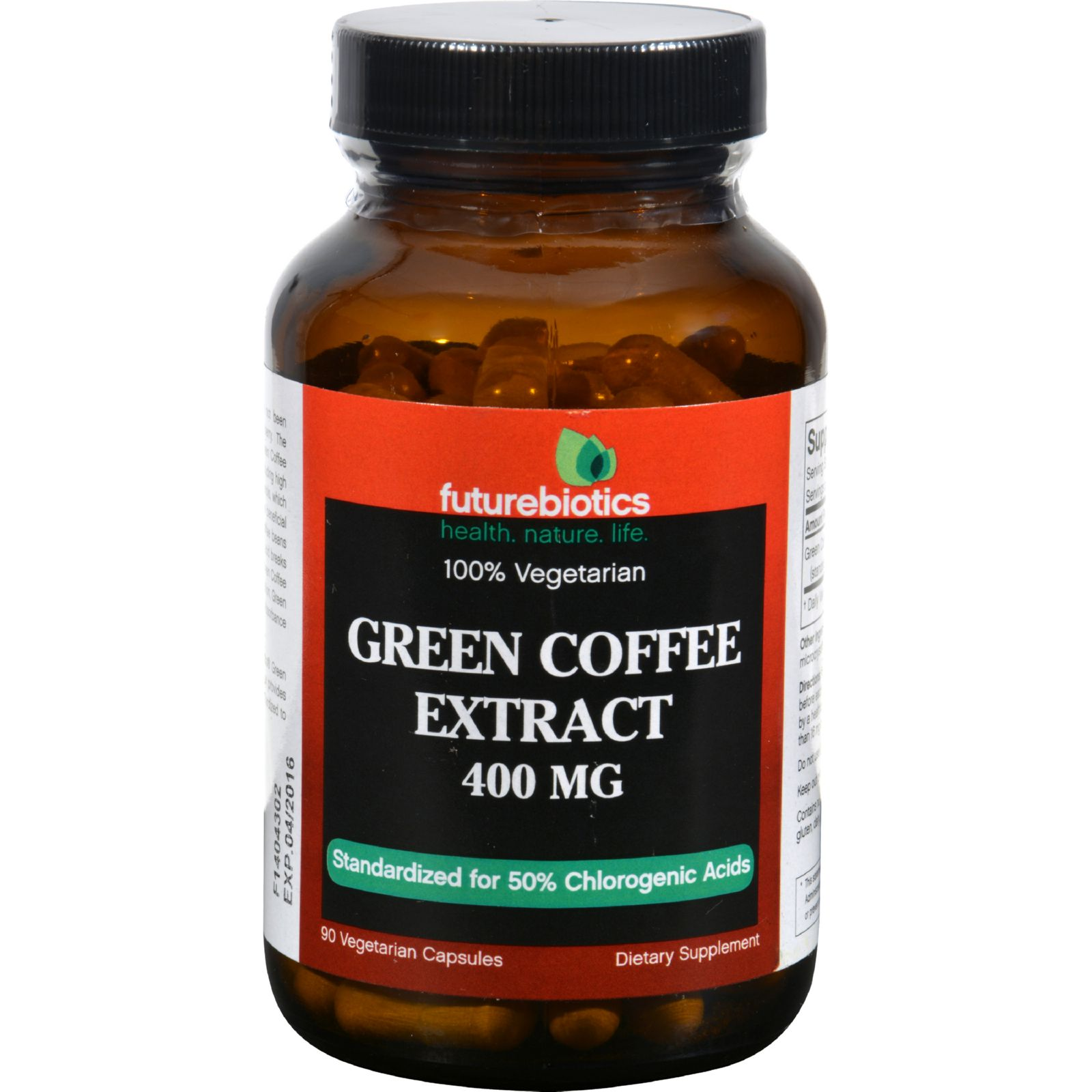 Futurebiotics Green Coffee Extract - 400 Mg - 90 Vegetarian Capsules