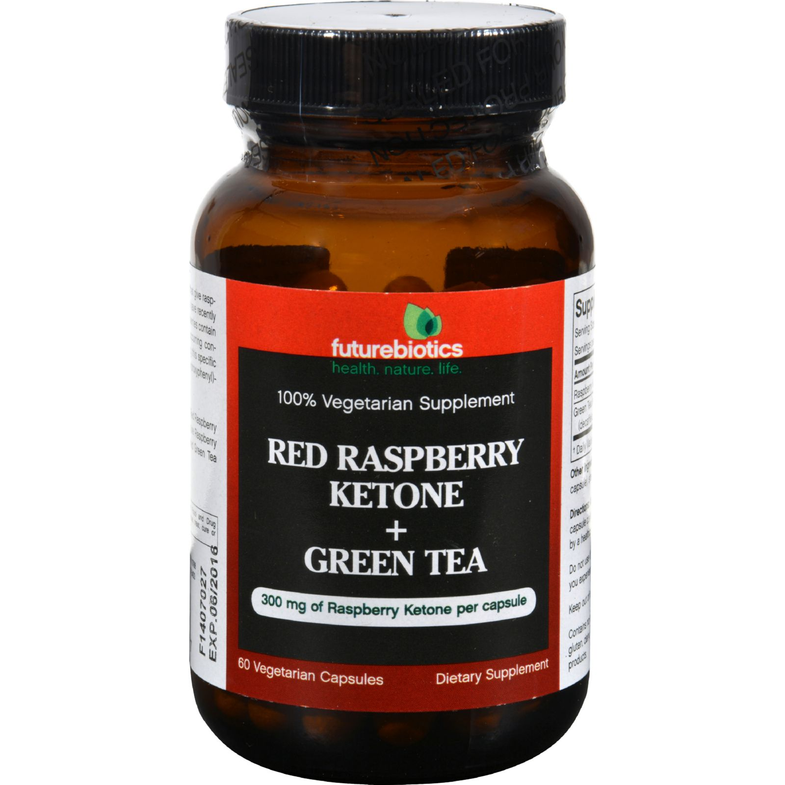 Futurebiotics Raspberry Ketone Plus Green Tea - 60 Vegetarian Capsules