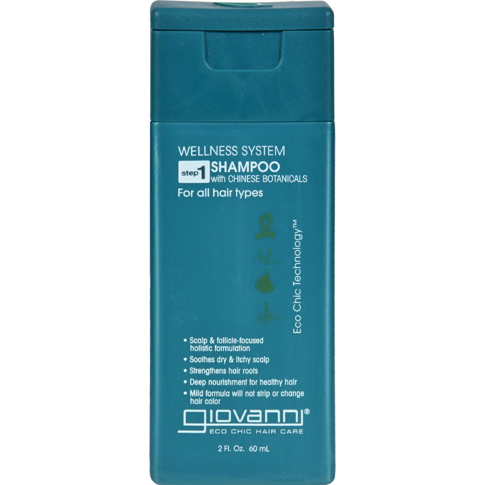 Giovanni Hair Care Products Shampoo - Wellness System - Travel Size - 2 oz