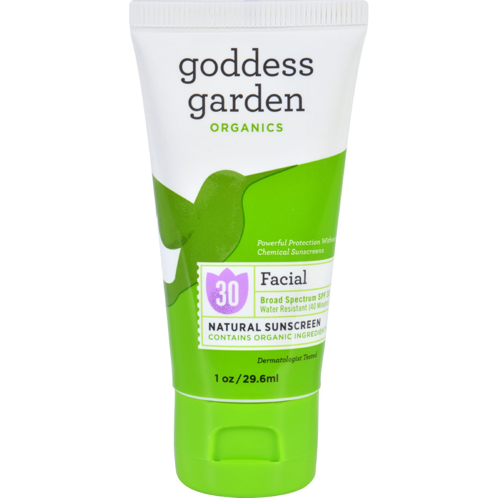 Goddess Garden Sunscreen - Counter Display - Organic - Facial - Spf 30 - Tube - 1 Oz