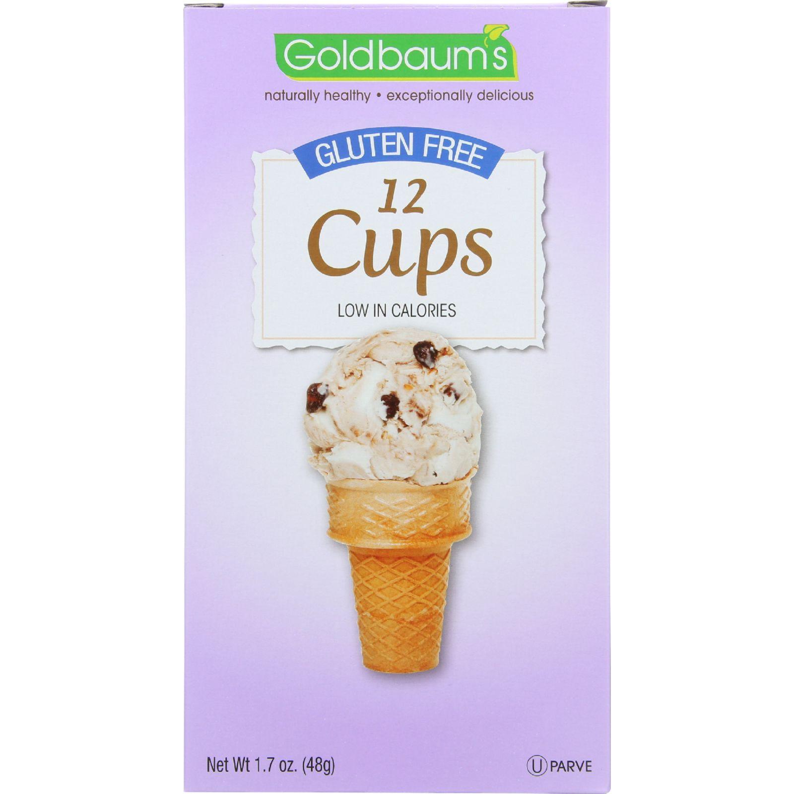 Goldbaums Ice Cream Cone - Cups - Gluten Free - 1.7 Oz - Case Of 12