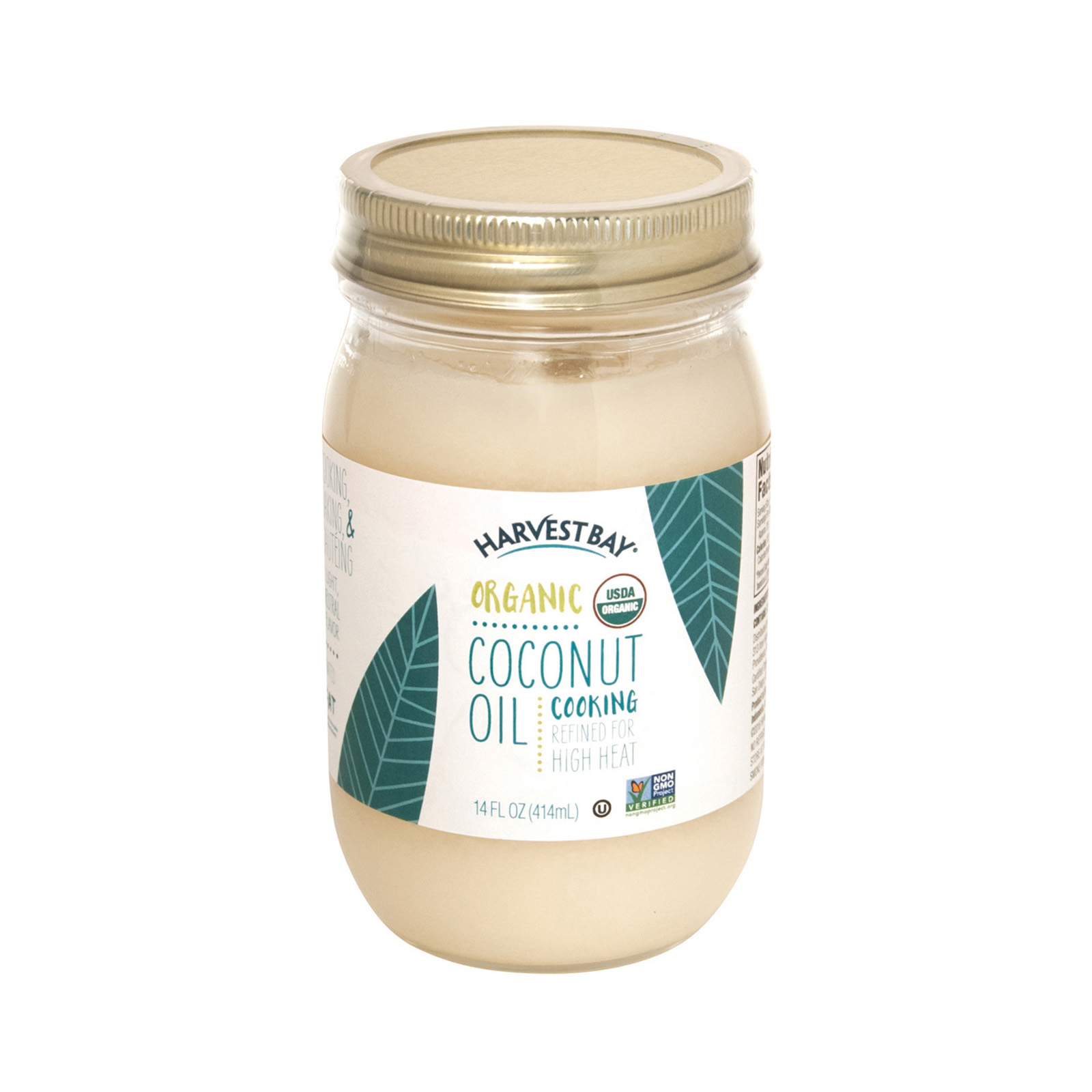 Harvest Bay Organic Coconut Oil - Extra Virgin Refined - Case Of 6 - 14 Fl Oz.