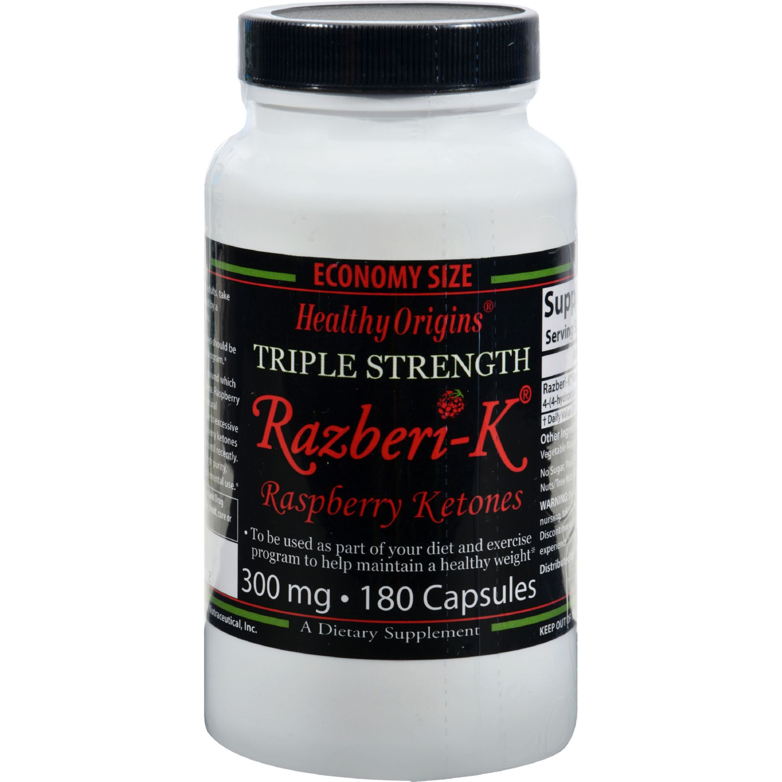 Healthy Origins Raspberry Ketones - 300 Mg - 180 Ct