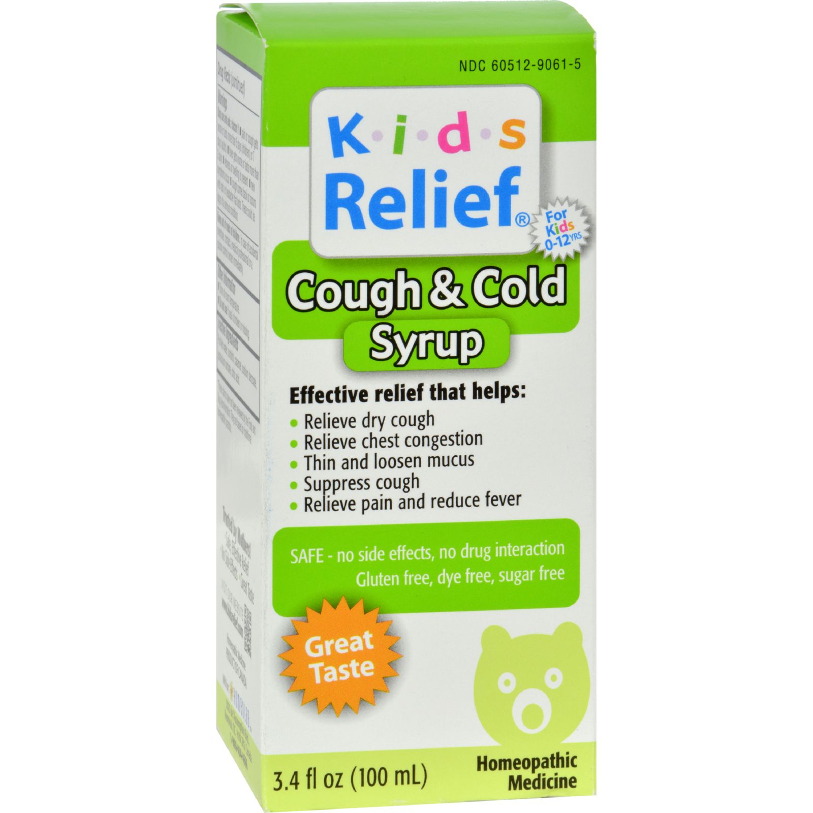 Homeolab USA Kids Relief Cough and Cold For Kids 2+ Fruit - 3.4 fl oz