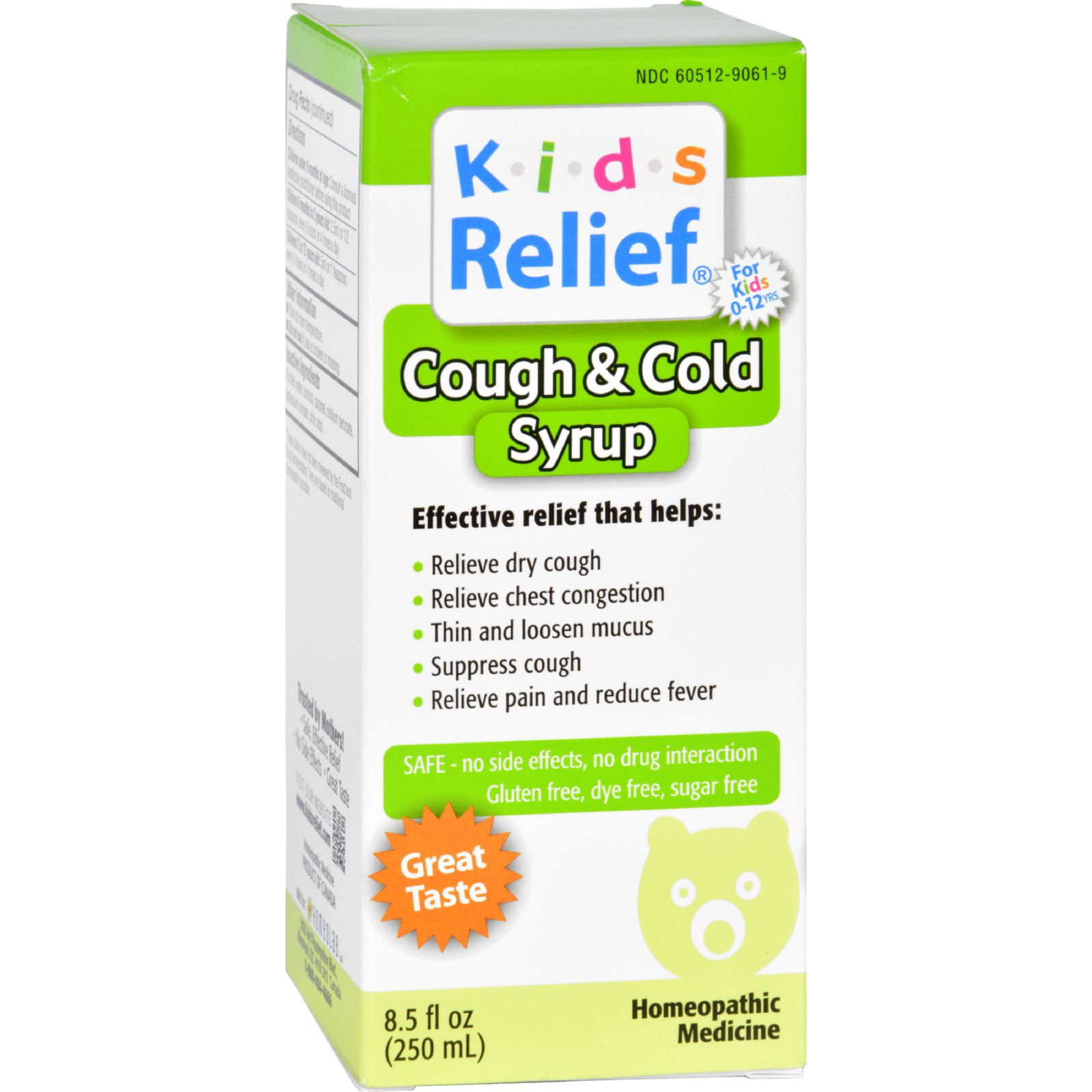 Homeolab USA Kids Relief Cough and Cold Formula - 8.5 fl oz