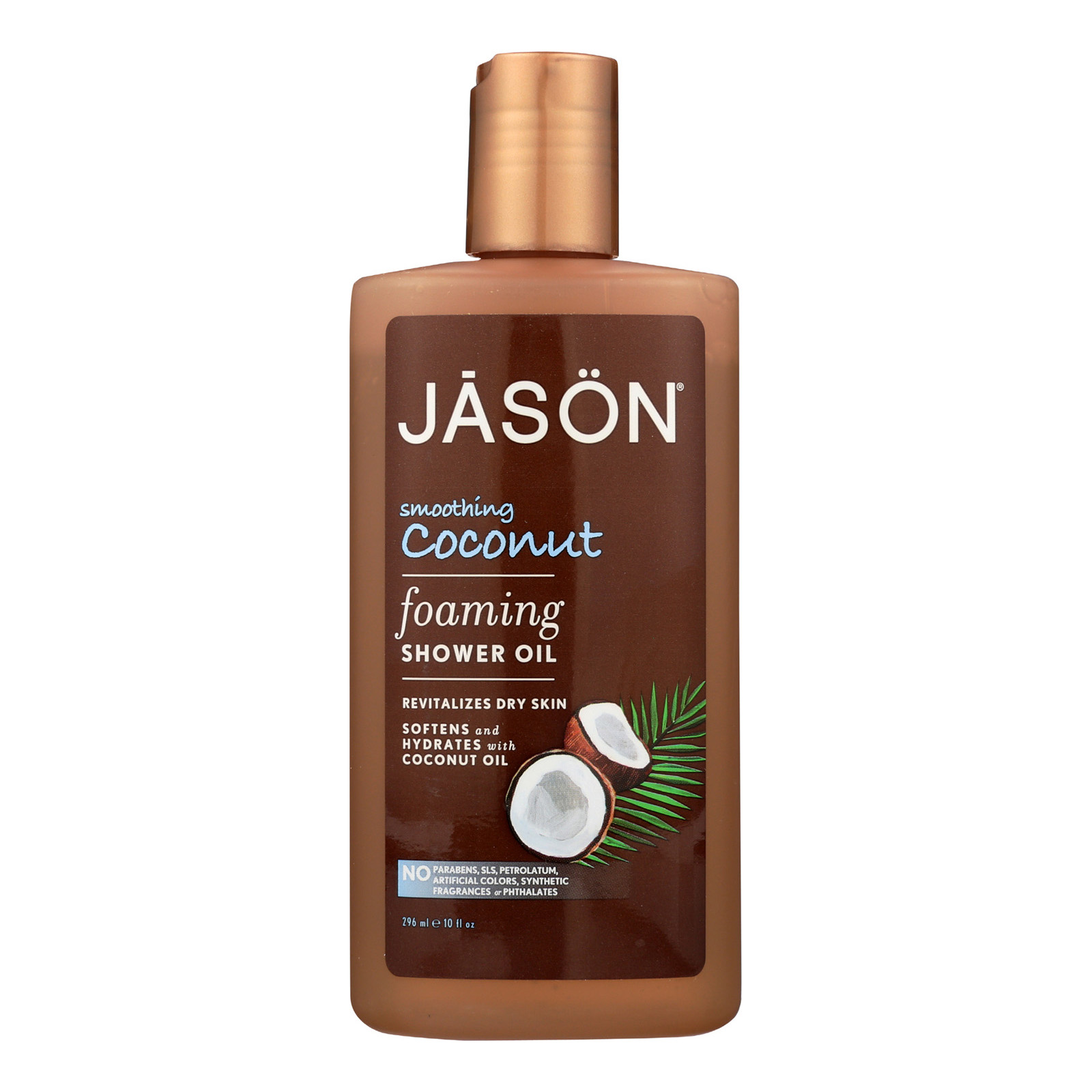 Jason Natural Products Jason Natural Coconut Foaming Shower Oil - Smoothing Coconut - 10 Fl Oz.