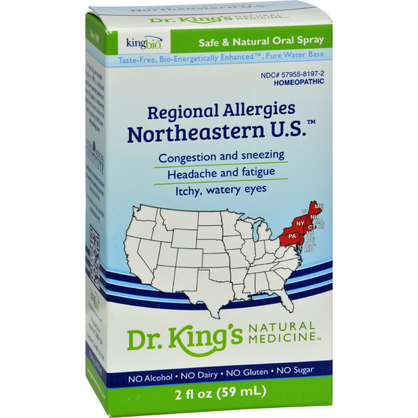 King Bio Homeopathic Northeastern U.s. - 2 Fl Oz