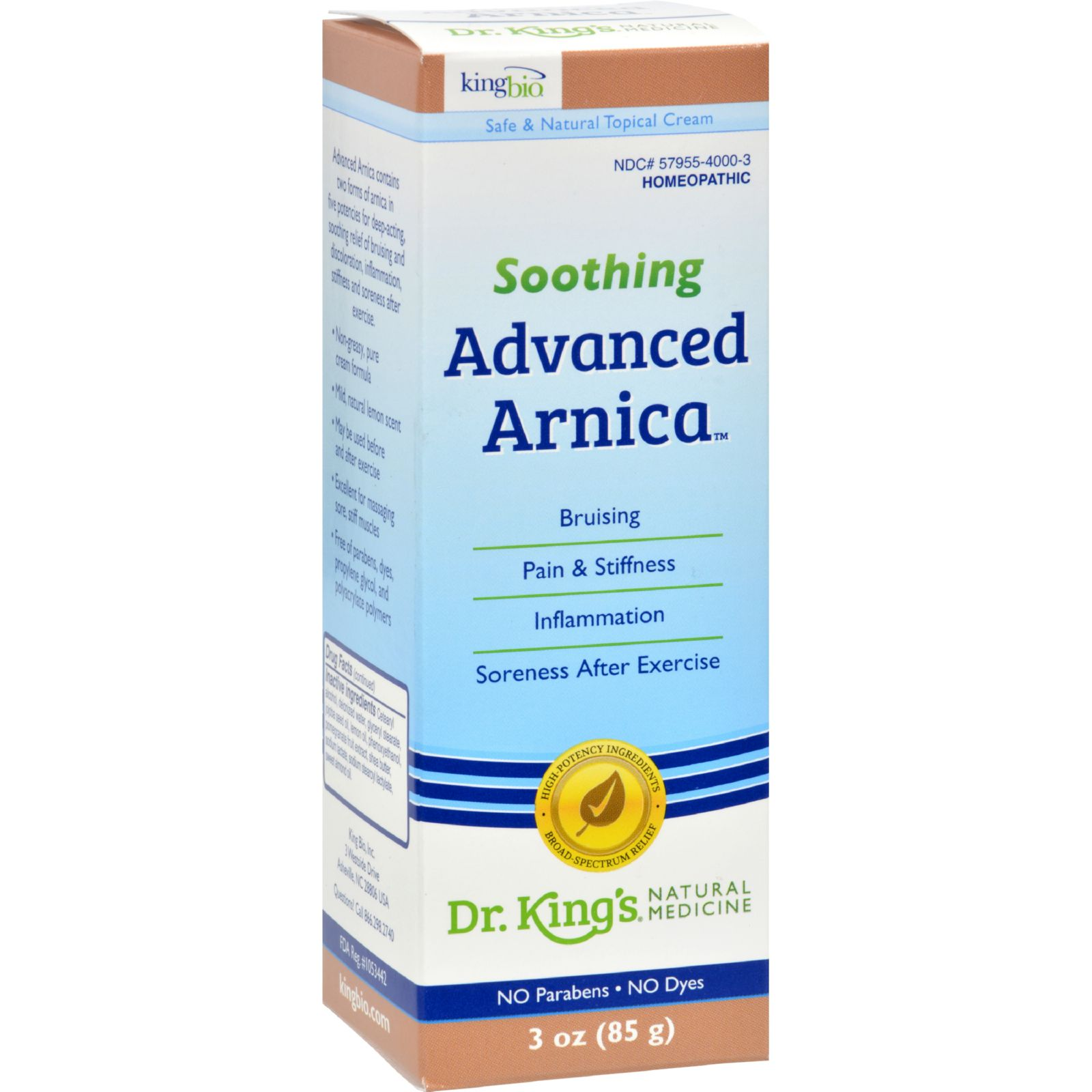King Bio Homeopathic Advanced Arnica Cream - 3 Oz