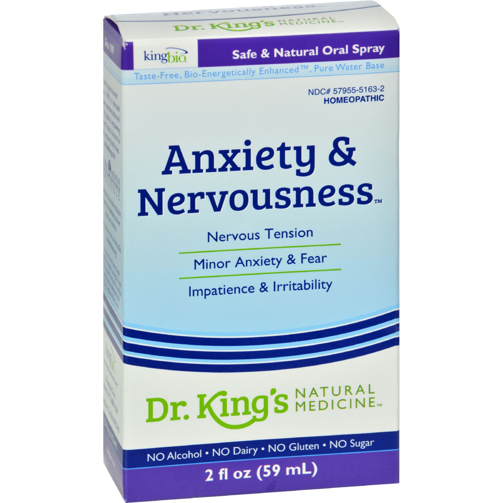 King Bio Homeopathic Anxiety And Nervousness - 2 Fl Oz