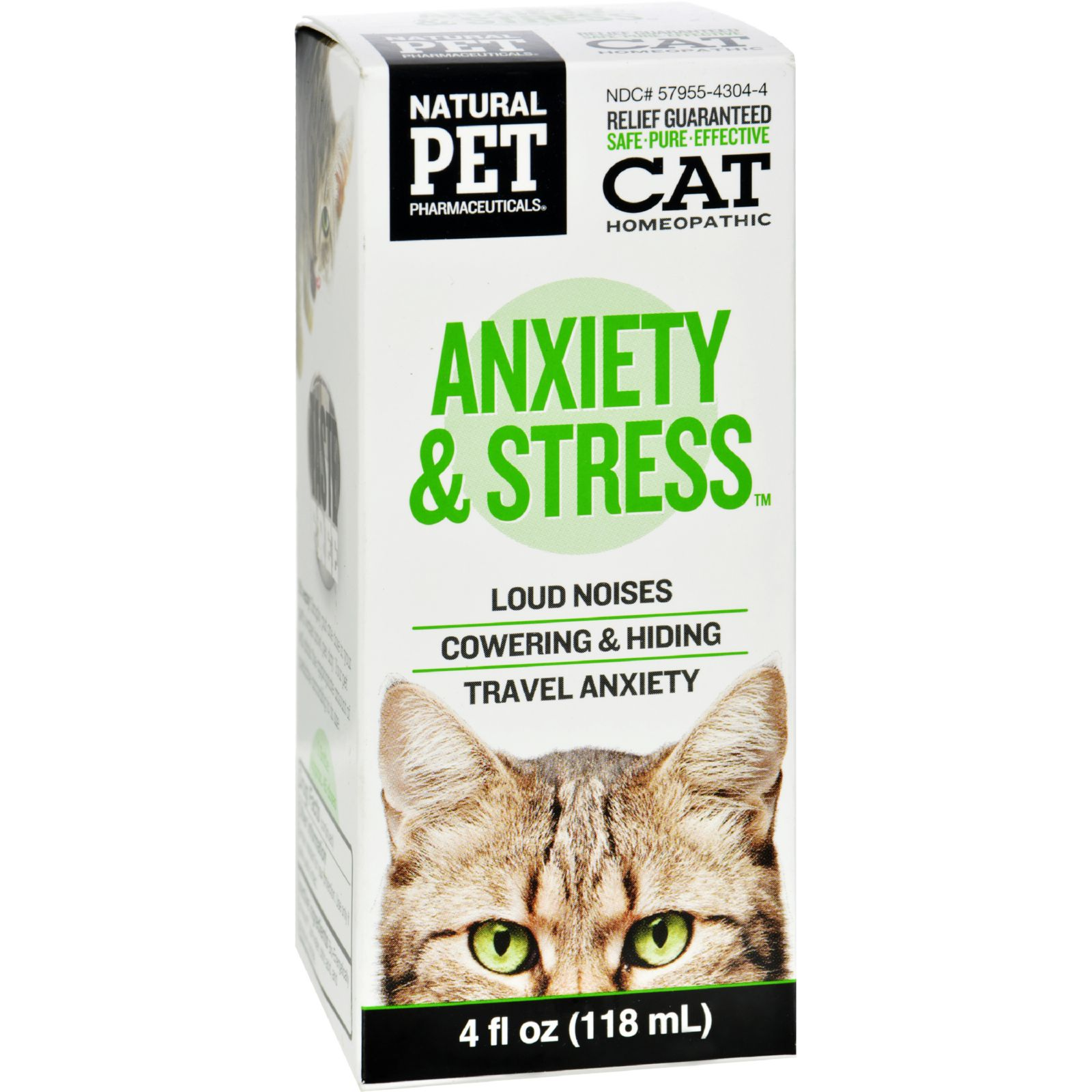 King Bio Homeopathic Natural Pet Cat - Anxiety And Stress - 4 Oz