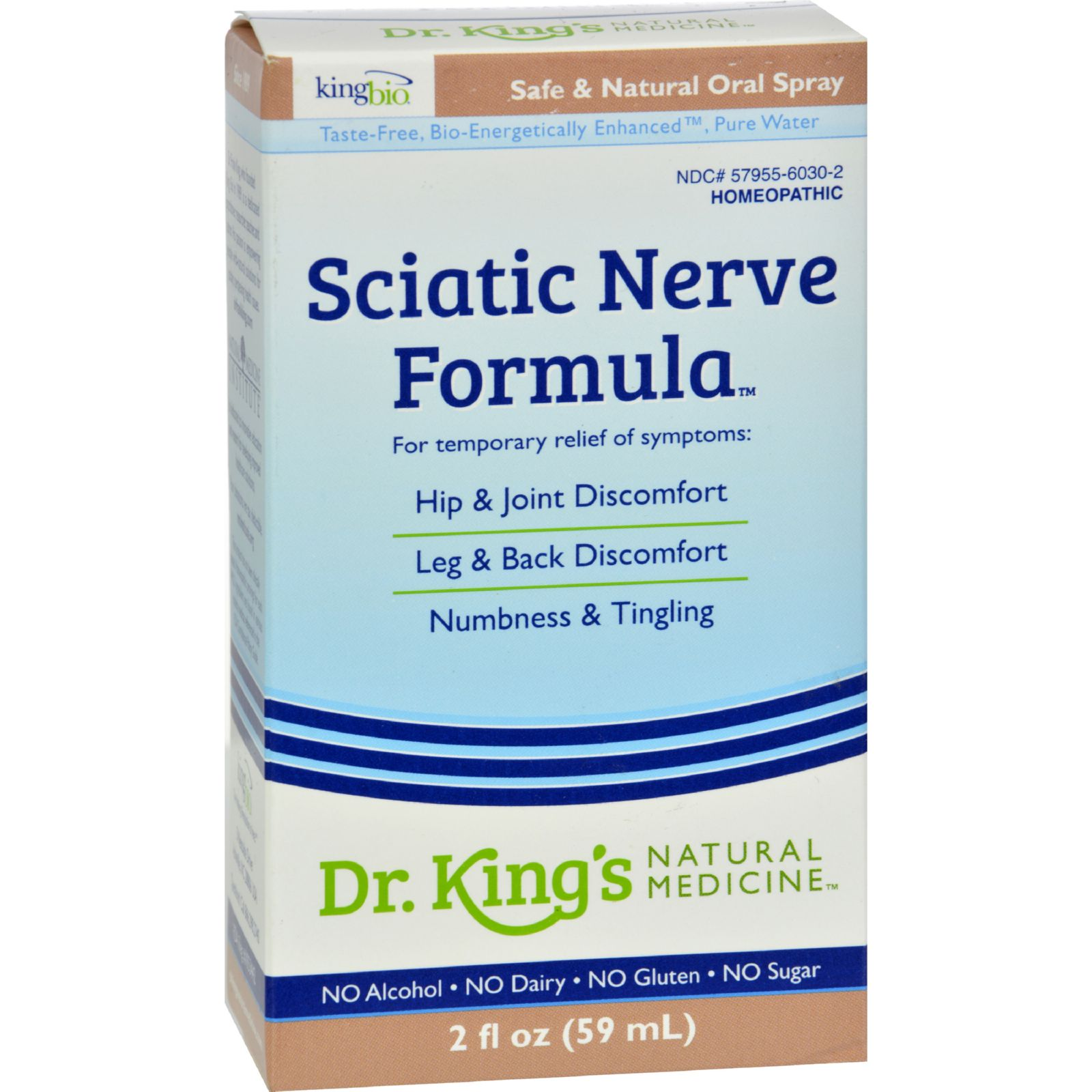 King Bio Homeopathic Natural Medicine Sciatic Free - 2 Fl Oz