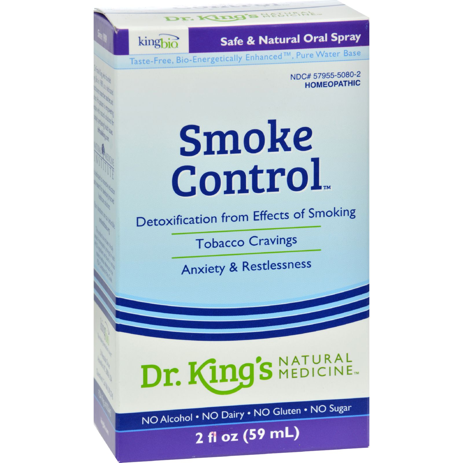 King Bio Homeopathic Smoke Control - 2 Oz