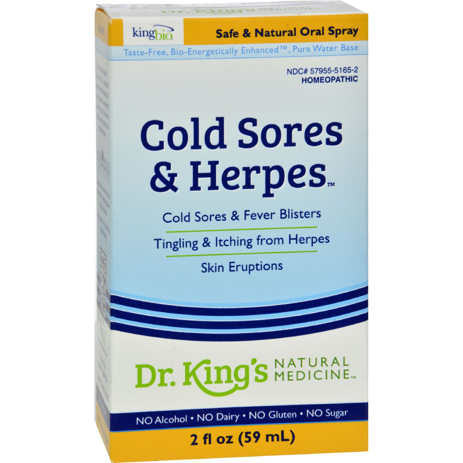 King Bio Homeopathic Cold Sores And Herpes Reliever - 2 Fl Oz