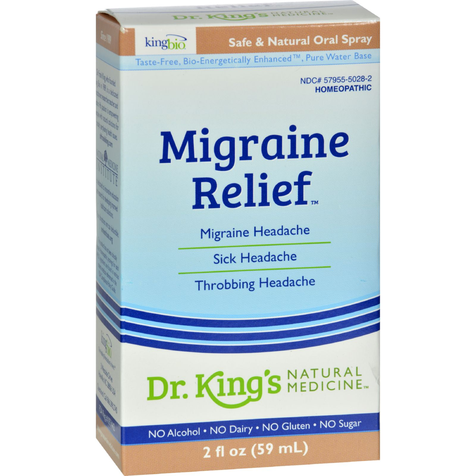 King Bio Homeopathic Migraine Relief - 2 Fl Oz