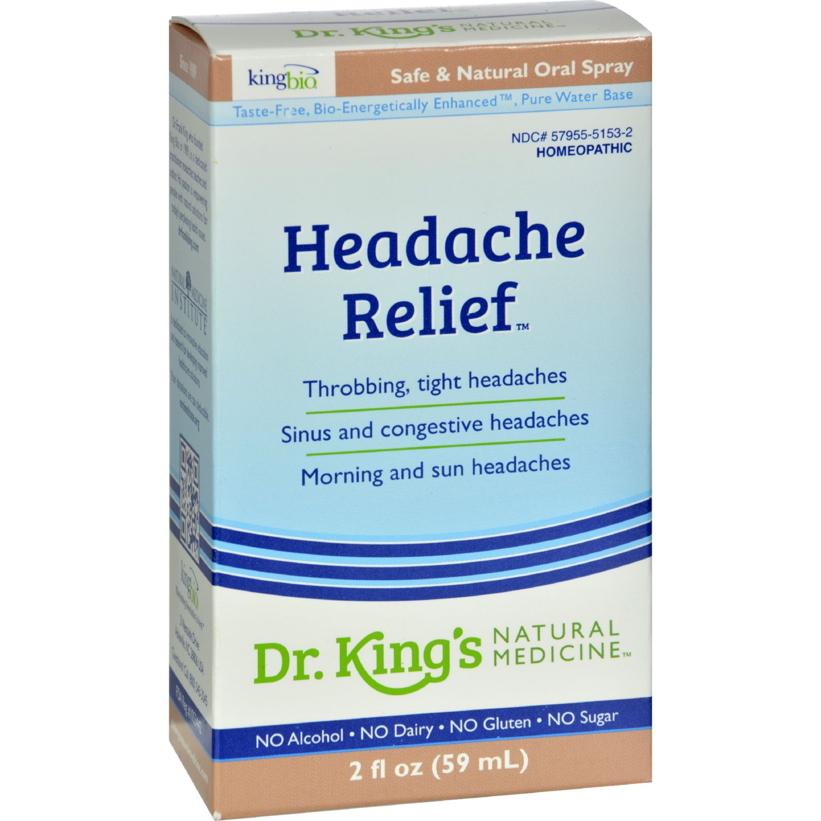 King Bio Homeopathic Headache Relief - 2 Fl Oz