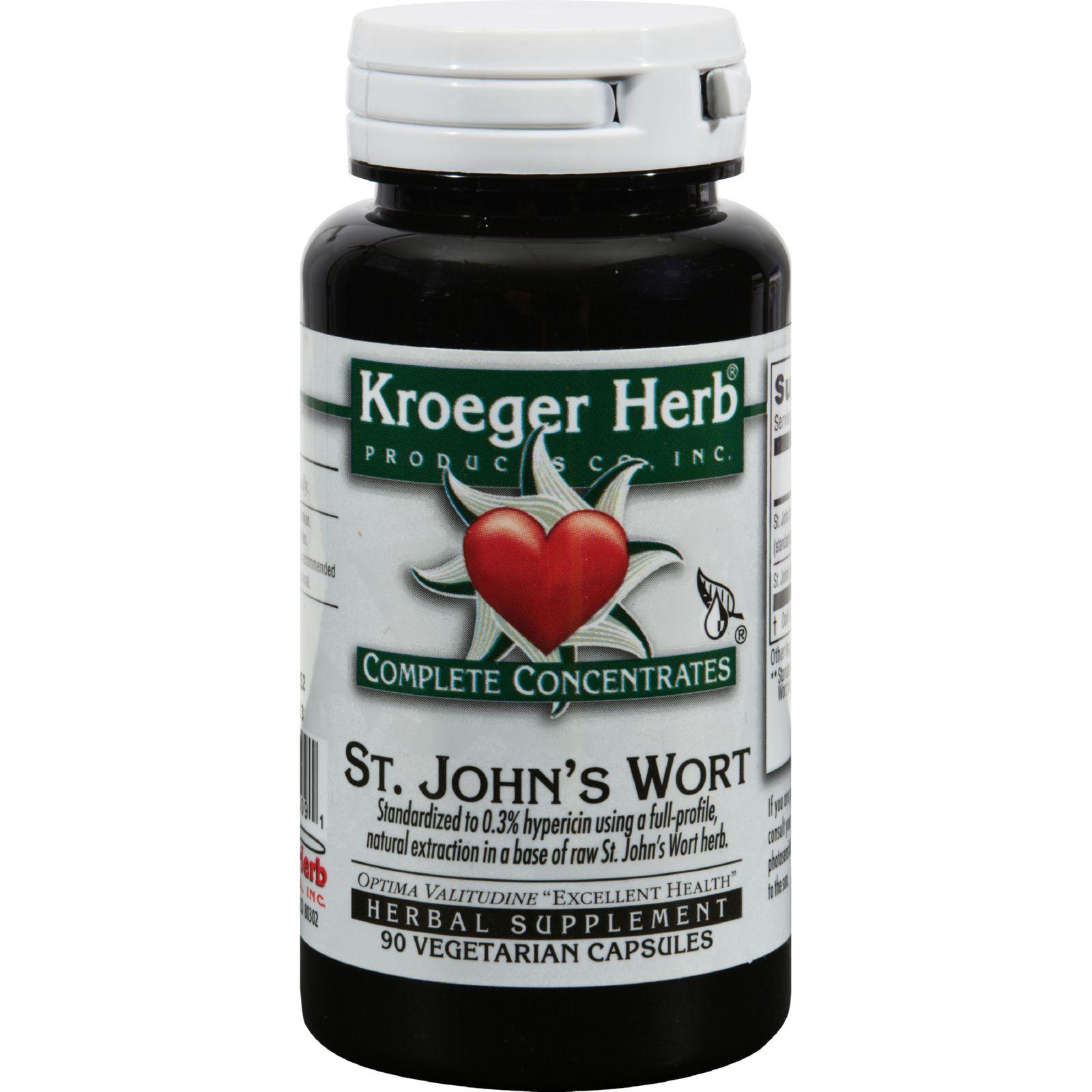 Kroeger Herb St John's Wort - 90 Vegetarian Capsules