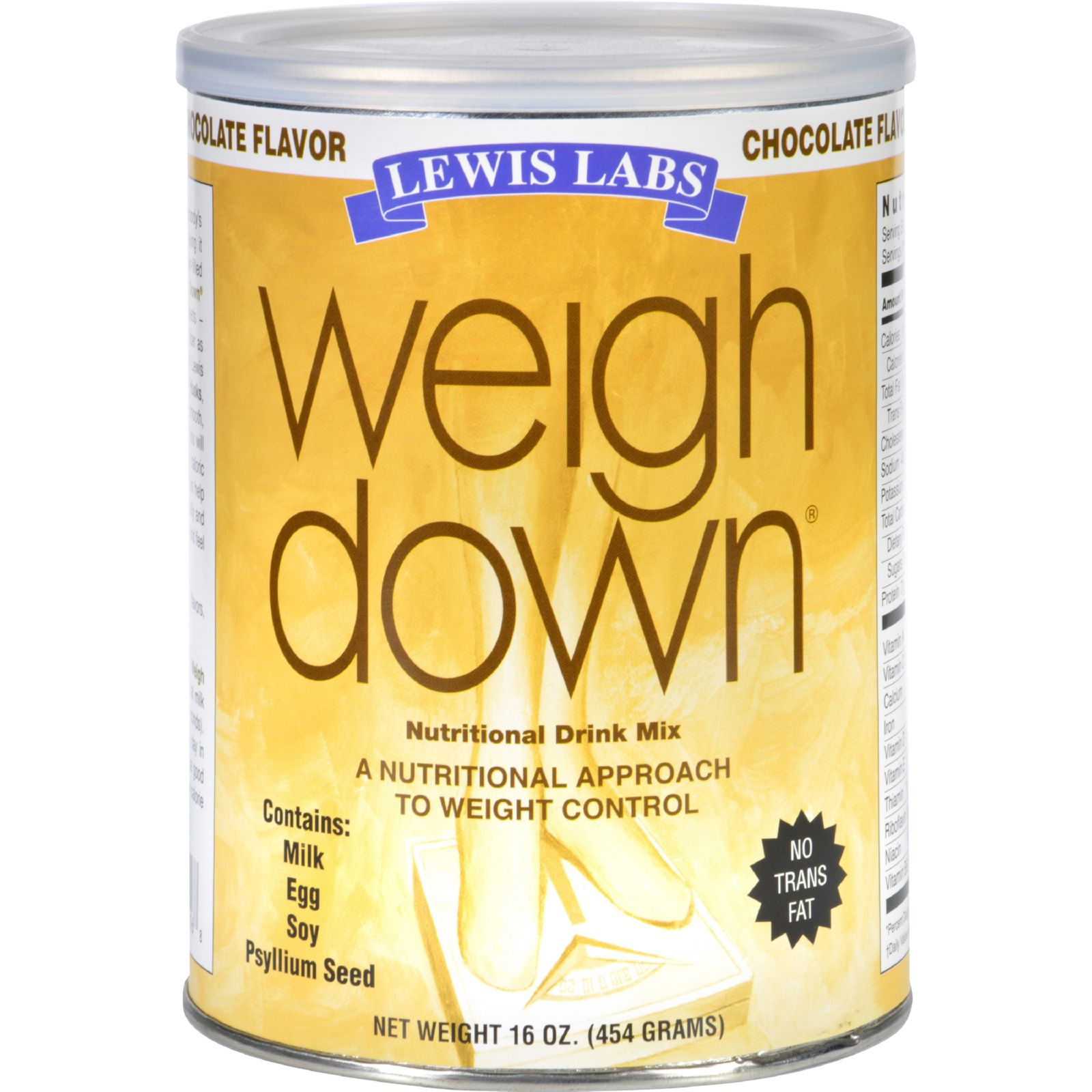 Lewis Lab Weigh Down - Chocolate - 16 Oz