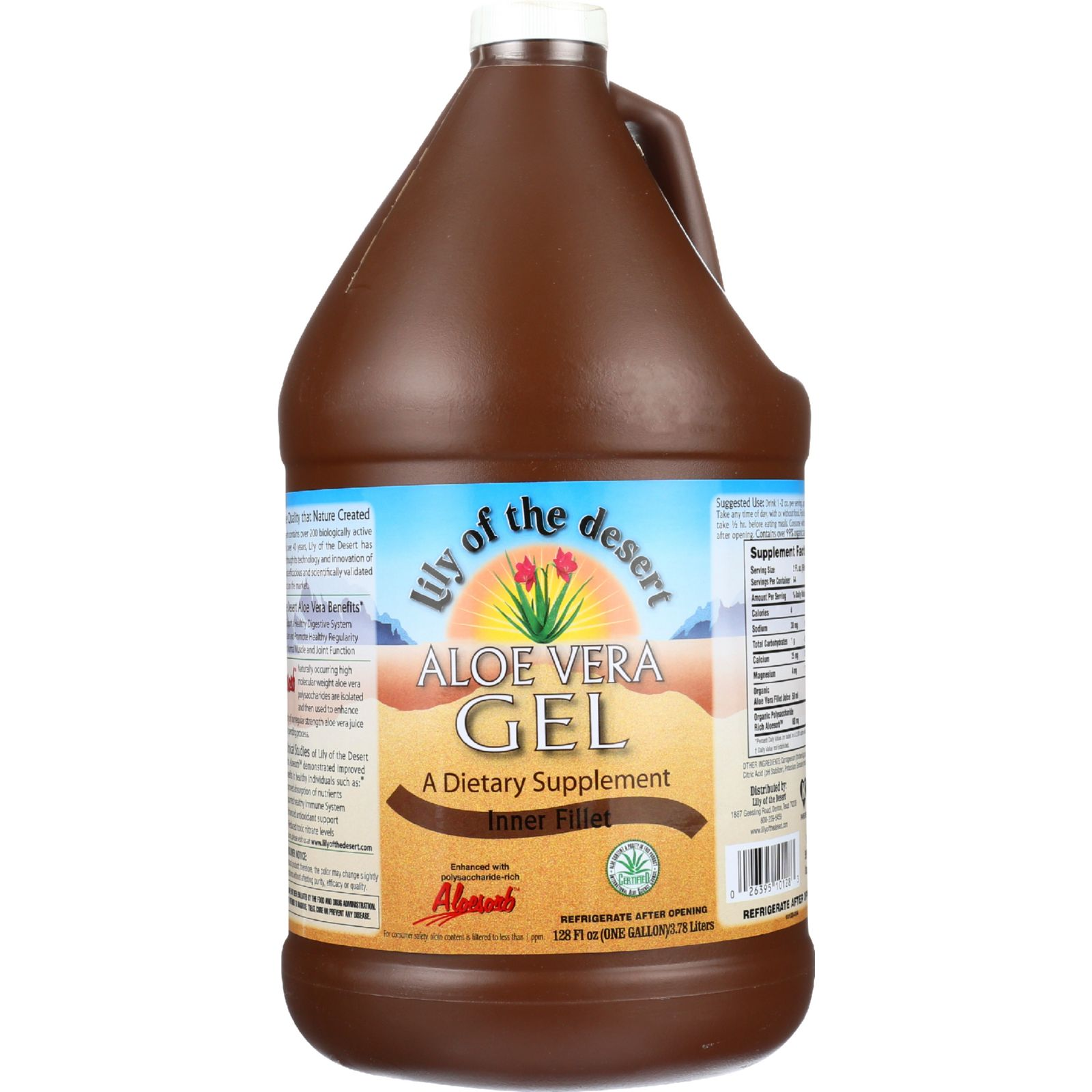 Lily Of The Desert Aloe Vera Gel - 1 gallon - case of 4