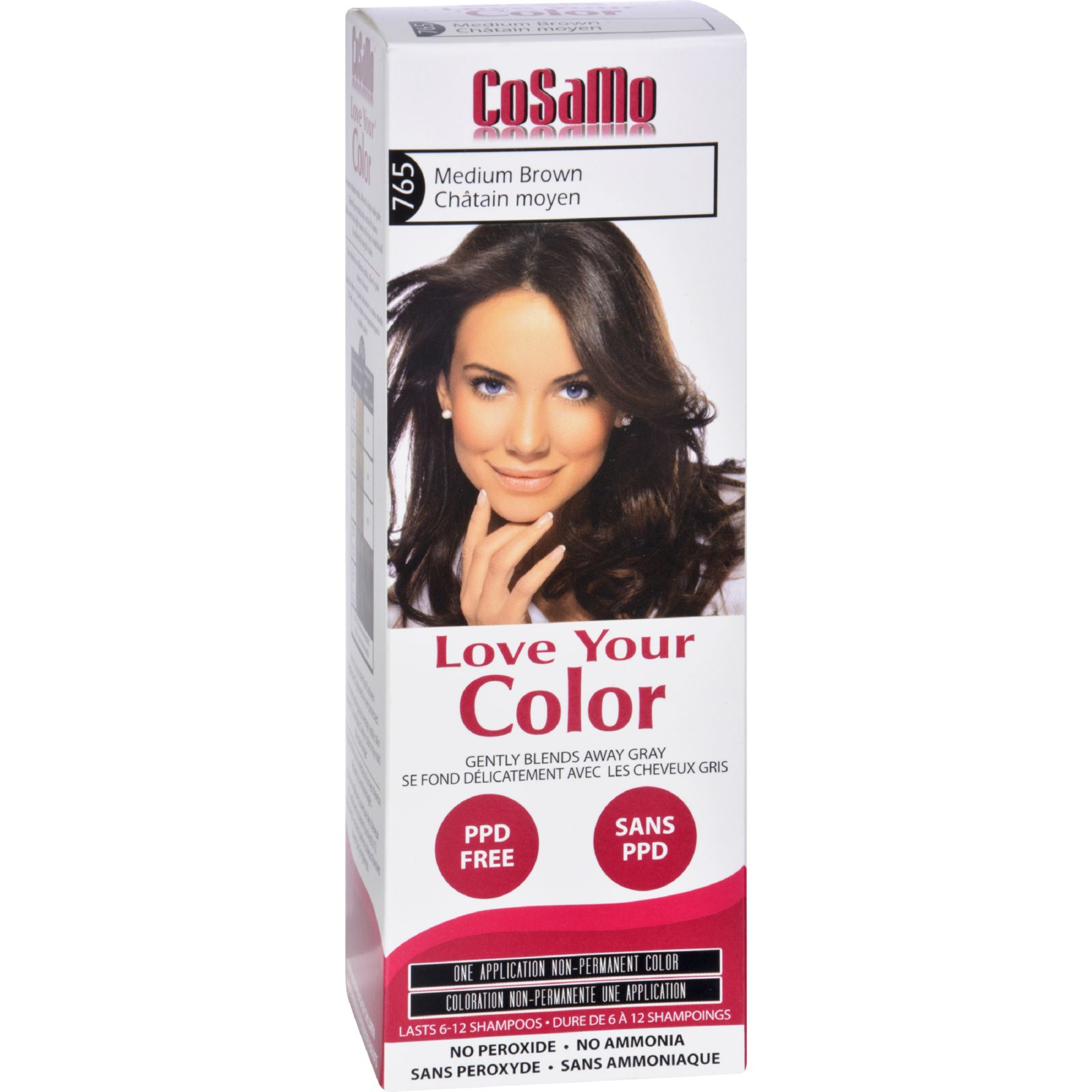 Love Your Color Hair Color - Cosamo - Non Permanent - Medium Brown - 1 Ct