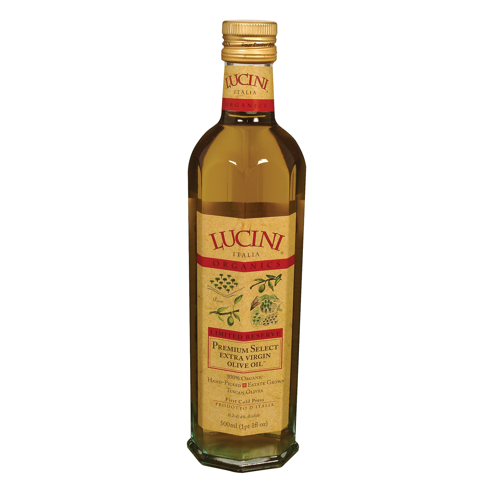 Lucini Italia Organic Extra Virgin Olive Oil - Case Of 6 - 17 Fl Oz.