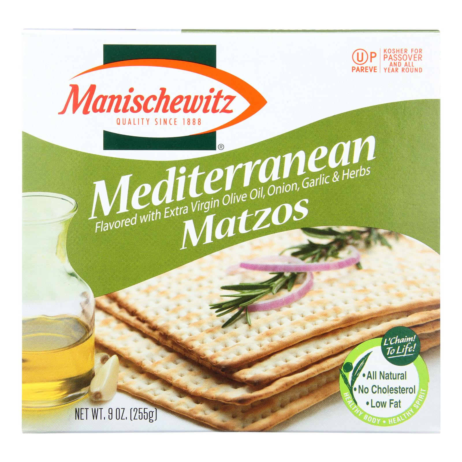 Manischewitz Matzo Mediterranean - Case Of 12 - 9 Oz.