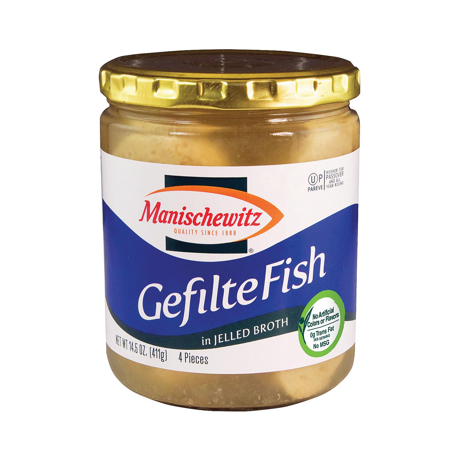 Manischewitz Gefilte Fish In Jelled Broth - Case Of 12 - 14.5 Oz.